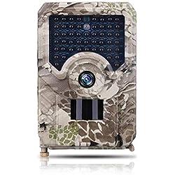 """Rlorie Cámara Trail - Cámara de Caza Scouting de 12MP 1080P con visión Nocturna activada por Movimiento, Pantalla LCD de 2.4"""", cámara de Juego Impermeable IP66 Cámara de Juego Trail"""
