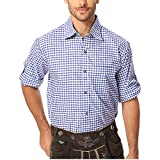 Gesteiner Leather Trachtenhemden für Herren Trachtenhemd männer karriert Trachten Hemd Langarm Regular fit Baumwolle mit krempelärmeln für Trachtenhosen verschiedenen karo Farben