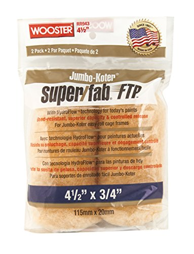 Die Wooster Brush Company rr943–41/2Super Fab FTP Jumbo-Koter Miniroller, 3/4-Zoll-Nap, 2er...