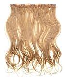 Prettyland - DQ138 50cm ondulato un pezzo estensioni a clip nell'estensione dei capelli posticci - 27T613