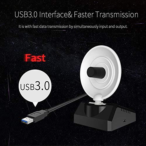 51Iyi0bvMmL - BSDK Adaptador inalámbrico de WiFi para USB, 150-1300Mbps 2.4G y 5.8G Adaptador de señal de WiFi Fuerte Antena de Radar WiFi USB LAN Ethernet Receptor