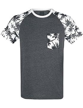 Produkt Palm Raglan Tee Camiseta Antracita Mezclado XL