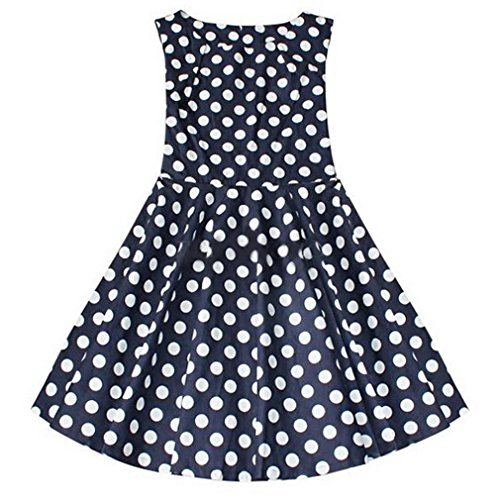 Smile YKK Rundhals Kurzarm Plissee Damen Skaterkleid Partykleid Vintage Kleid Casualkleid Minikleid Wickelkleid Schwarzblau