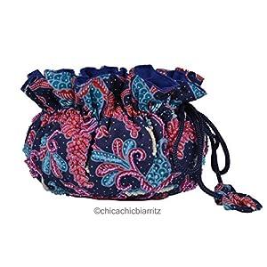 Porta gioielli organizer - Portagioie Da Viaggio - Fatto A Mano (Batik Blue)