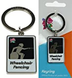 London 2012 Paralympic Pictogram of Wheelchair Fencing Metal Key Ring or Chain