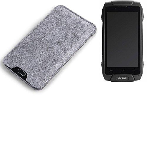 K-S-Trade Filz Schutz Hülle für Cyrus CS 30 Schutzhülle Filztasche Filz Tasche Case Sleeve Handyhülle Filzhülle grau