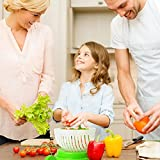 Salat Cutter Schale, schnell Frischer Salat Schneide 60Sekunden Salat Maker Gemüse Obst Schüssel Cutter & Sieb Dual Use–Geschenk-Paket Bonus im lieferumfang enthalten (grün)