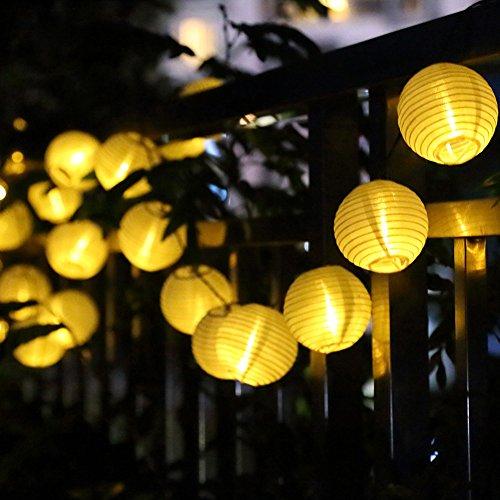 batterie 7.5 M 30 Lampions 8 Modus Wasserdicht Batteriebetriebene Laterne LED Lichterkette außen für Garten Patio Zimmer Weihnachten Halloween Hochzeitsdekoration ()