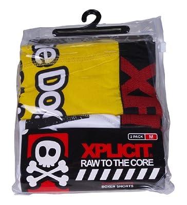 Xplicit 'Dog Pack' Men's Twin Pack Funny Novelty Boxer Shorts