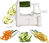 Spiralizer Tri-Blade Vegetable Slicer, Strongest-and-Heaviest Duty Guarantee, Lifetime Replacement Warranty, Best Veggie Pasta & Spaghetti Maker for Low Carb/Paleo Healthy Vegetable Meals