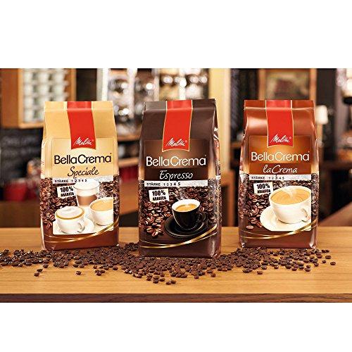 Melitta Ganze Kaffeebohnen, 100 % Arabica, mildes Aroma, leichter Charakter, milder Röstgrad, Stärke 2, BellaCrema Speciale, 1000g - 7