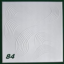 10 m2 Piastre-polistirene Lastre Soffitto Stucco Copertura Decorazione Pannelli 50x50cm, Nr. 84