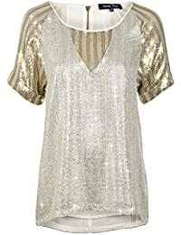 April, May Shirt SIGN sequin silver/gold Gr. S