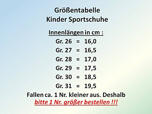 GIBRA® Kinder Sportschuhe, mit Klettverschluss und Lederinnensohle, blau/pink, Gr. 26-31 Blau/Pink