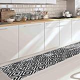 Dekoidea by Crearreda Decorazione Protezione per Pavimenti passatoia 50 x 240 x 0,25 cm in Vinile (Black And White)