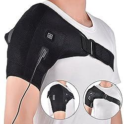 HailiCare Wärme-Therapie-Bandage, verstellbare, für die Eiskönigin-Heizkissen, die durch die, die in die, die Tendinitis, Bursitis, harte, soreness Hot Cold Unterstützung Wrap für Männer und Frauen