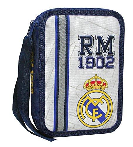 Real Madrid  – Plumier de 2 pisos  pequeño (escritura / estuches)