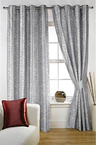 Threadmix Polycotton Abstract Grey Curtain