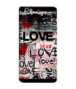 Sketchfab Love Latest Design High Quality Printed Designer Back Case Cover For Gionee S6