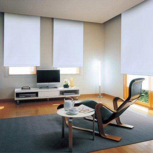 Auralum ® Lichtundurchlässig Klemmrollo Jalousie Rollos Klemmfix ohne Bohren Bx L 70X120CM (Weiß)
