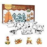 3d tagliapasta, Profer biscotti biscotti torta TAGLIAPASTA Form Natale Starter Set (8pezzi) in acciaio inox