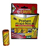 Massó - Attraper des mouches - bande adhésive - tue les mouches 10 articles - Piège à insectes, non toxique, écologique hygiénique