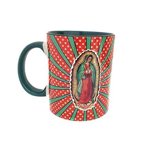 Mug - tasse avec décoration la Vierge de la Guadalupe d'inspiration mexicaine - Mexique