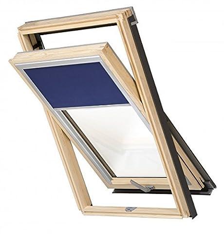 Dachfenster Balio Schwingfenster mit Eindeckrahmen und Rollo (Verdunkelungsrollo) 114x112 cm