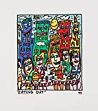 James Rizzi Eating Out 2D Poster Kunstdruck Farblithographie - Kostenloser Versand