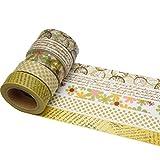 K-LIMIT 5 Set Washi Tape rollos de Washi Tape, cinta decorativa autoadhesivo, cinta de enmascarar, masking tape Scrapbooking DIY Washitape DIY Scrapbooking 6287