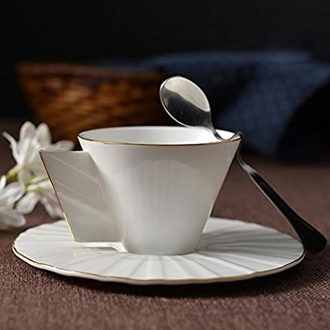 SSBY Phnom Penh high-grade bone China coffee mugs, cups and saucers, spoons, 45 per cent more bone-bone China, volume