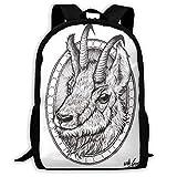 Mochila para portátil Little Goat Classic Backpack, Mochila para Estudiantes de College School para Hombres y Mujeres