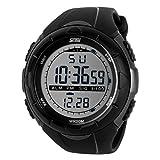 Yesurprise Reloj Digital Cuarzo Unisex Deportivo & Brillante Sumergible Diseño Para Buceo Natación Etc Color Titanio