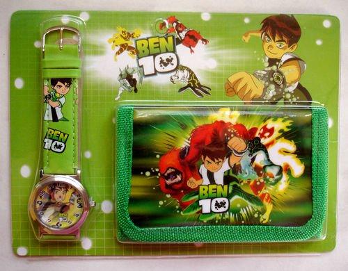 Image of Ben 10 Wallet and watch combo boy birthday present gift tv cartoons kids