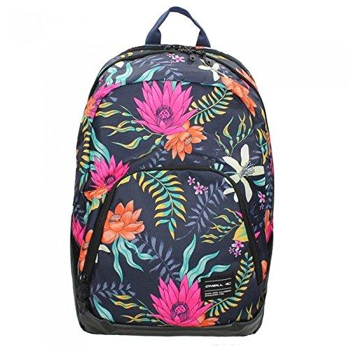 O' Neill Bm Wedge Backpack, schwarz - blau - rosa - gelb - grün, Taglia unica