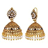 Navya Collection Gold Platted Jhumki Ear...