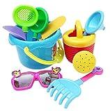 Lovely Kids Beach Toys,Yistu 9Pcs Sand Sandbeach Castle Bucket Spade Shovel Rake Water Tools