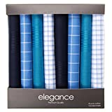 Retreez 8 Stück Reine Baumwolle Gemischte Taschentücher für Herren Geschenkset - Gemischte Set 002