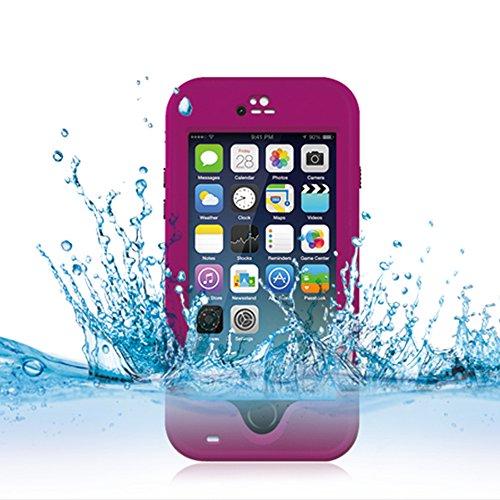 Cuitan Wasserdicht Schutzhülle Hülle für Apple iPhone 6 Plus (Schwarz), Multi-Layer-Hybrid TPU + PC Schutzhülle Rückseite Handyhülle mit Ständer Design Bumper Case Cover Shell für iPhone 6 Plus Rot