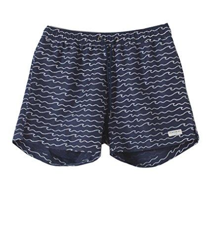 THINKING MU Swimshorts Mediterranean Waves, Herren Badeshorts, Badehose, Schwimmshorts Blue