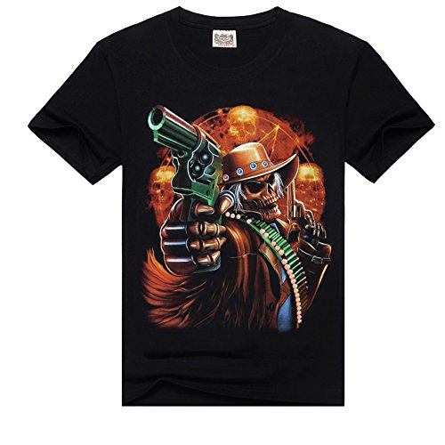 ¨¦t¨¦ T-shirt V¨ºtements Guns 3D Skull Designer la SM0249C de Surker Nouveau Hommes