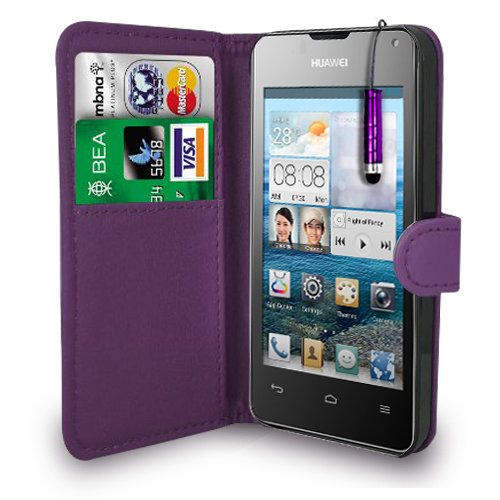 huawei-ascend-y300-dark-purple-leather-wallet-flip-case-cover-pouch-free-screen-protector-mini-touch