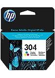 HP 304 cartouche d'encre trois couleurs authentique (N9K05AE)