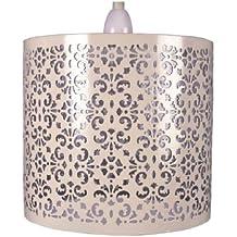 Crema Metal con metacrilato transparente pantalla para lámpara de techo colgante con pantalla para lámpara (para pintura)