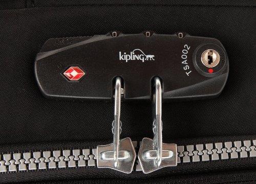 Kipling YUBIN SPIN 81 K15017, Borsa da viaggio unisex adulto, 50 x 81 x 33 cm (L x A x P), Nero (Schwarz (Black 900)), 50x81x33 cm (L x A x P) Nero (Schwarz (Black 900))