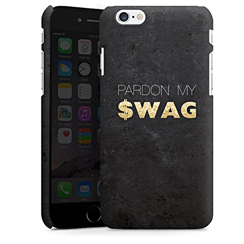 Apple iPhone X Silikon Hülle Case Schutzhülle Pardon Swag Glitter Premium Case matt
