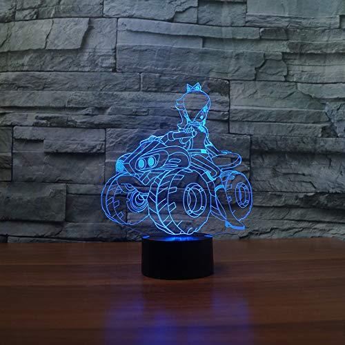 Kjfgkf @ 3D Nachtlicht 3D Led 7 Farbwechsel Alle Gelände Fahrzeug Tischlampe Usb Motorrad Schlafzimmer Dekor Kinder Cartoon Geschenke Nachtlichter