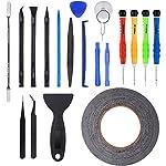 Zacro® 21 in 1 Profi Reparatur Werkzeug Set Tool kit für Handy und Smartphone & Multimedia oder andere Kleingeräte, Inkl. Mikrofasertuch.