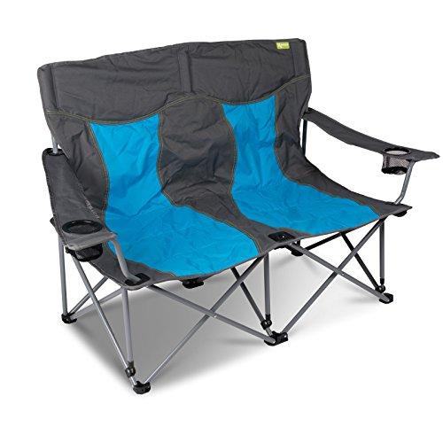 Campingstuhl für 2 Personen mit Getränkehalter einfach zusammenfaltbar • Klappstuhl Faltstuhl Gartenstuhl Stuhl Klappsessel Outdoor Camping