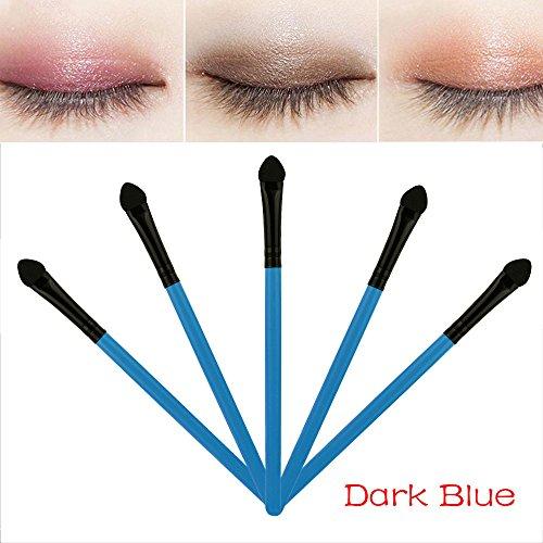 Eaylis Pinceaux Maquillages Yeux Fond De Teint Real Techniques Highlighter 5Pcs éPonge Fard à PaupièRes Eyeliner Pinceau Applicateur éPonge